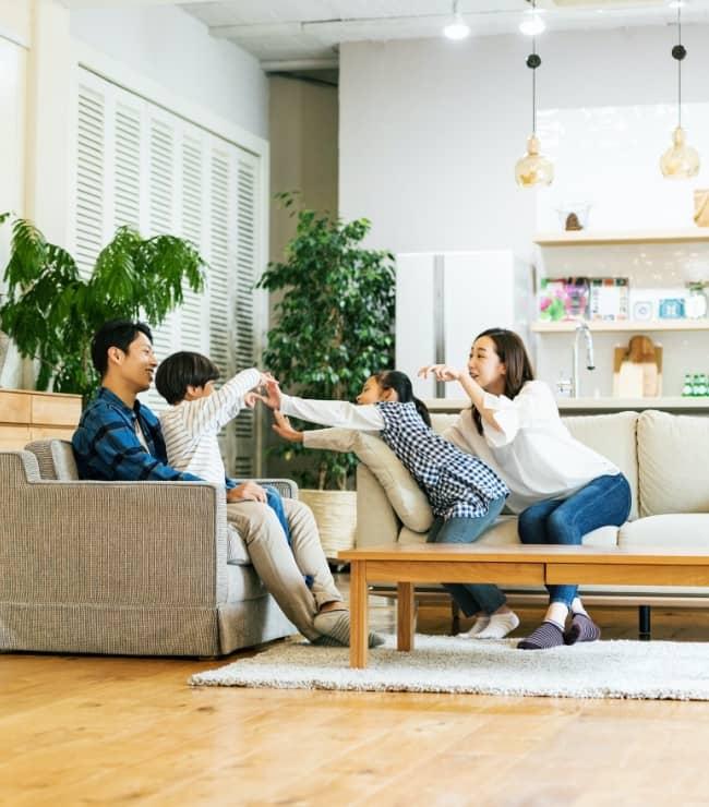 家族と過ごす理想の家へ